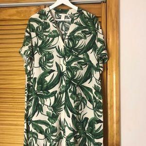 H&M Palm Leaf Shift Dress